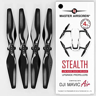 MAS Upgrade Propellers for DJI Mavic AIR in Black - x4 in Set