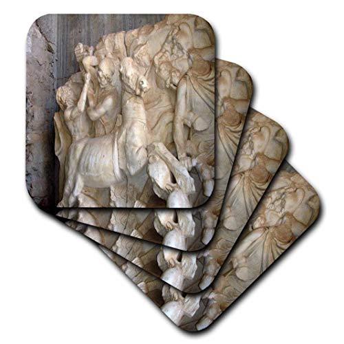 Antike Türkei (3drose Stein Schnitzarbeiten-Warfare, Ephesos, Ruinen, Dekoration, Reisen, Geschichte, Antike, Türkei-Soft Untersetzer, Set von 8(CST 51696_ 2))