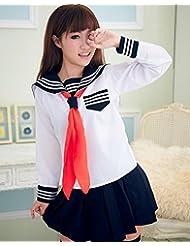 DD El uniforme japonés atractivo del vestido de lujo del traje de del marinero del marinero de las muchachas de la escuela del estudiante (un tamaño, fotografía del retrato) , student suit (no socks) , one size