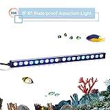 TOPLANET 90w Led Aquarium Beleuchtung Pflanzen Lichter Aquarien Meerwasser Led Lampe Blue White Light für Nano Fisch Riff Growth 180° Einstellbar Haken 55cm