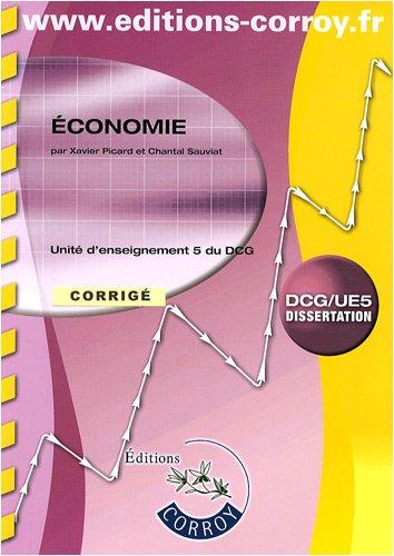 Economie DCG 5 : Corrigé