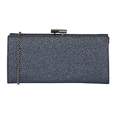 4182ed45b1 Lotus Womens Navy Glitter 'Vibe' Clutch Bag: Amazon.co.uk: Shoes & Bags