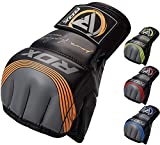 RDX MMA Handschuhe Profi Maya Hide Leder Kampfsport Sparring Freefight Sandsack Trainingshandschuhe Grappling Gloves(MEHRWEG)