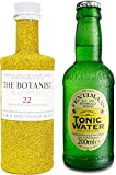 Gin Tonic Bling Bling Mini Probierset - The Botanist Islay Dry Gin 5cl (46% Vol) Glitzerflasche Gold + Fentimans Tonic Water 200ml -[Enthält Sulfite]