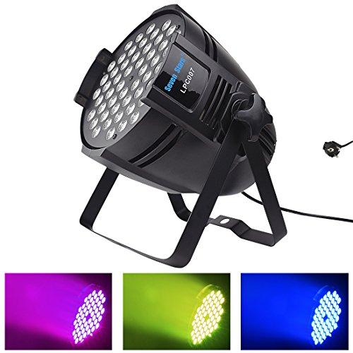 DJ PAR Licht 54X3 Watt RGBW LED Bühnenbeleuchtung 162 Watt DMX 512 Bühnenbeleuchtung für DJ Hochzeit Kirche Konzert Tanz Bühne Musik Veranstaltungen (LPC007)