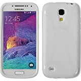 PhoneNatic Case kompatibel mit Samsung Galaxy S4 Mini Plus I9195 - weiß Silikon Hülle X-Style + 2 Schutzfolien