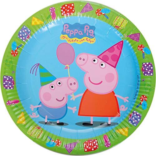 8 Teller * Peppa Pig * für Kindergeburtstag und Mottoparty | Wutz Kinder Geburtstag Plate Partyteller Pappteller