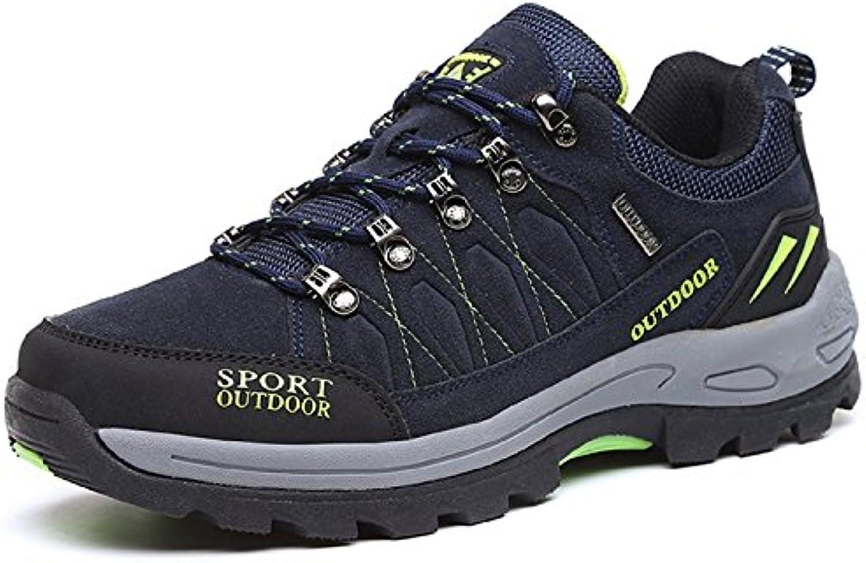JOYTO Herren Wanderschuhe Trekking Hiking Sports Outdoor weisshe und Bequeme Rutschfeste Sneaker Grau Braun Armeegrün
