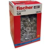 Fischer, 542458, 100 Tasselli GK, Specifici per Cartongesso, Include Accessorio di Montaggio