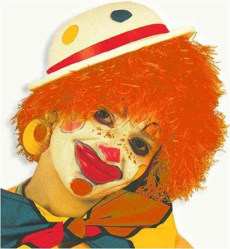 Perücke Clown rot (Kind Clown Perücke)
