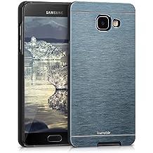 kwmobile Funda rígida de alta calidad para Samsung Galaxy A5 (versión 2016) con refuerzo de aluminio pulido en la parte trasera en antracita