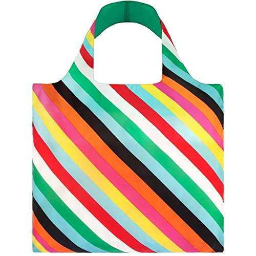 Preisvergleich Produktbild POP Stripes Bag: Gewicht 55 g, Größe 50 x 42 cm, Zip-Etui 11 x 11.5 cm, handle 27 cm, water resistant, made of polyester, OEKO-TEX certified, can carry up to 20 kg