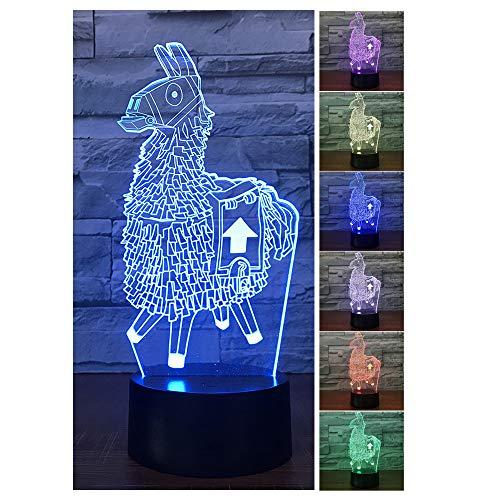 pe, 7 Farben ändern Touch Control LED Schreibtisch Tischlampe Dekoration Nachttischlampe für Halloween Weihnachten Geburtstag Baby Kinder (Alpaka) ()