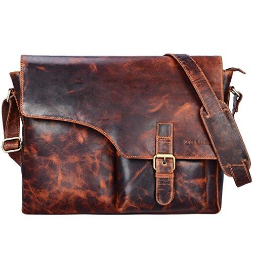 d9b9da4df1e24 STILORD  Valerian  Leder Umhängetasche Herren Messenger Bag Business Uni  Büro groß DIN A4 Laptoptasche