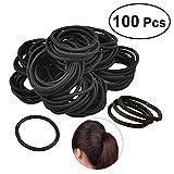 Frcolor Elastik Haar Krawatten Bands Seil Keine Falte Kein Metall für alle Haartypen Durable Strong (100pcs schwarz)