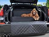 Lit de chien pour voiture, couverture de protection pour coffre, couverture en simili-cuir noire