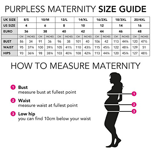 Purpless Maternity Made With Love�?- Slogan Gedruckt Baumwolle Schwangerschaft Top T-Shirt B2015 Marl Gray Melange