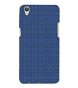 Blue Shower Pattern 3D Hard Polycarbonate Designer Back Case Cover for Oppo F1 Plus