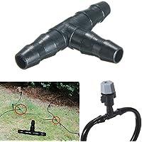 Calli 50pcs connettori tee ugello tubo a goccia strumento di irrigazione per 4/7 millimetri tubo