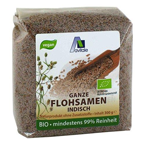 Avitale Ganze Flohsamen, 99 % Reinheit, reich an Ballaststoffen, Bio-Ware