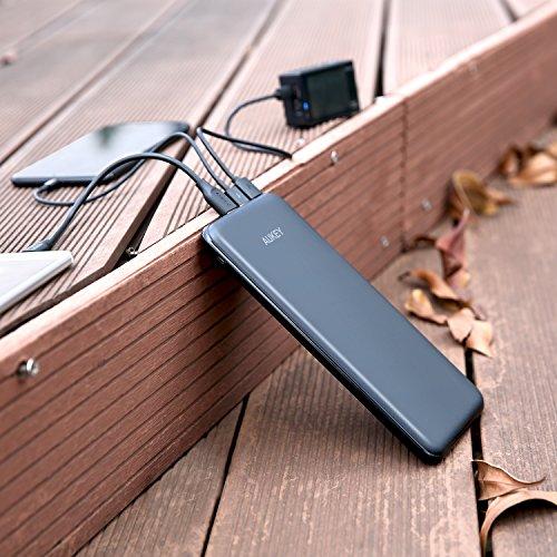 AUKEY-USB-C-Power-Bank-20000mAh-Caricabatterie-Portatile-con-4-Porte-e-3-Ingressi-per-iPhone-X-8-7-Plus-6-Samsung-S8-S8-Nexus-6P-iPad-Tablets