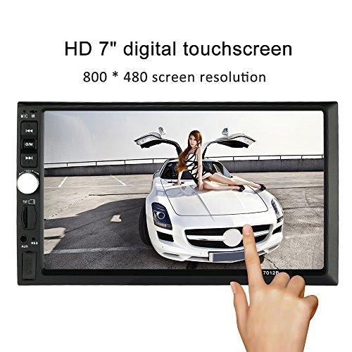 KKMOON 7 Zoll Universal Autoradios 2 Din HD MP5 Player Bluetooth Radio Entertainment Multimedia USB/TF-In-Dash-FM-Aux-Eingang (Hd-radio-bluetooth-auto Stereo)