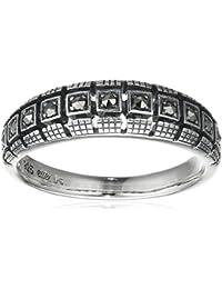 esse Damen Ring 925 Sterling Silber vintage-oxidized Markasit