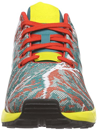 adidas Zx Flux Weave, Baskets Basses Homme, Bunt, XX Grün (Eqt Green S16/Yellow/Red)