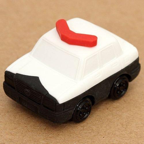Iwako Puzzle Radiergummi zum Sammeln weißes Polizei Auto