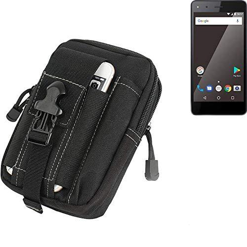 K-S-Trade Gürtel Tasche für Blaupunkt SL 01 Gürteltasche Schutzhülle Handy Hülle Smartphone Outdoor Handyhülle schwarz Zusatzfächer