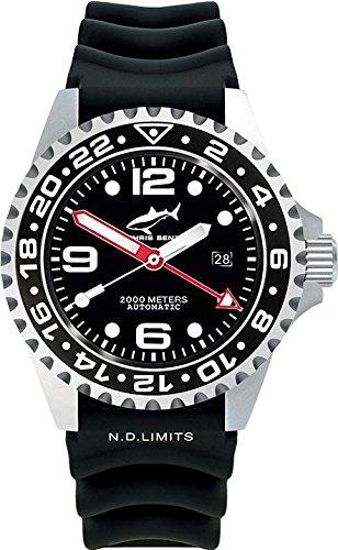 Chris Benz Deep 2000m Automatic GMT CB-2000A-D1-KB Reloj Automático para hombres Reloj de Buceo