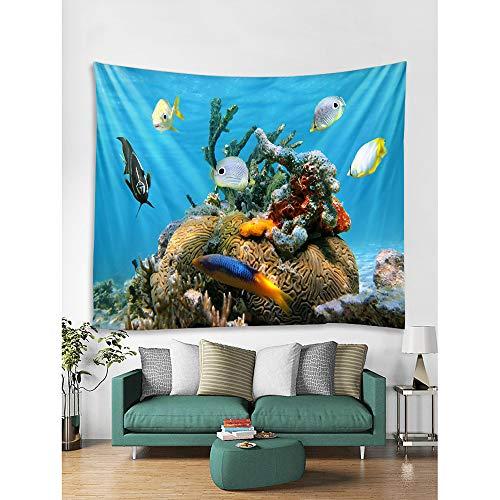 Meerestier Wand Dekor 100% Polyester zeitgenössische Wandkunst, Wandteppiche Dekoration, 150cm * 130cm - Zeitgenössischer Polyester