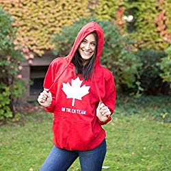 Eh Team Canada Sweater Funny Canadian Shirts Novelty Sweaters Hilarious Hoodie from Crazy Dog Tshirts