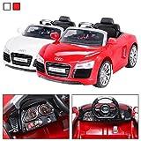 Actionbikes Motors Kinder Elektroauto Audi R8 Spyder Lizenziert 2 x 35 Watt Motor Original Elektro Kinderauto Kinderfahrzeug Kinderspielzeug Spielzeug für Kinder (Rot)