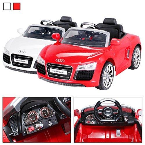 Kinder Elektroauto Audi R8 Spyder Lizenziert 2 x 35 Watt Motor Original Elektro Kinderauto Kinderfahrzeug (rot)