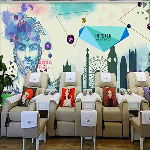 Tinte Cosmetics (Europa der Vereinigten Staaten Mode blaue Tinte Wandbild Männer Beauty Cosmetics Shop Hintergrund Wand Studio Tapete, 250X175 cm (98.4 By 68.9 In))