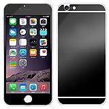 Avant et Arriere Protecteur d'écran en Verre Trempé Pour Apple iPhone 5G 5S - Yihya 9H Premium Miroir Effet Couverture Complet Tempered Glass Film Protection,Bords Arrondis - Noir(Black)