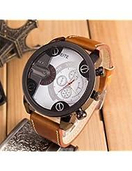 Belles montres, La grosse montre-bracelet à quartz cadran de mode sport pour hommes (couleurs assorties)