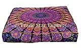 indischer großer Kissen Abdeckung, Quadratischer Mandala Kissen-Kasten, Baby Bett Abdeckung, Hippie Wohnkultur, Boho werfen Haustier Bett Abdeckung
