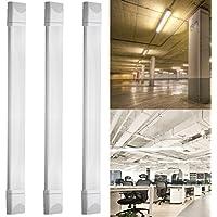 3X Regletas led de luz IP65 J&C® 36W 120cm Regleta neón Barra fluorescentes estanca de luz compacta LED lámpara perfil bajo 144*SMD2835 1500Lm Tri-prueba Luz blanco puro uso interior y exterior para pasillos,cocinas,oficinas,locales comerciales,entre otros