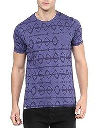 Elaborado Men Round Neck Tshirt - Violet Purple