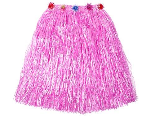 Aloha Hawaii Bastrock ca. 60 cm lang alle Farben, Farbe wählen:rosa (Bast Kostüme)