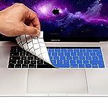 MyGadget Tastaturschutz QWERTZ für Apple MacBook Pro 13' & 15 Zoll Touchbar (ab 2016) - (deutsche Tastatur) Silikon Silikonschutz in Blau
