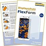 2 x mumbi FlexForm Schutzfolie für Samsung Galaxy S7 Edge Folie (TPU Displayschutzfolie legt sich passgenau um das gebogene Display)