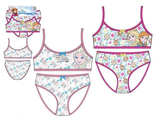 Pack de 2 Conjuntos Niña (Top y Braguita) 2 Diferentes Modelos Diseño Elsa Y Anna Frozen (Disney) 95% Algodon 5% Elastane