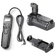 Neewer® BG-E8empuñadura de batería + mando a distancia disparador con pantalla LCD y temporizador para Canon EOS 550d 600d 650d 700d/Rebel T2i T3i T4i T5i SLR cámaras