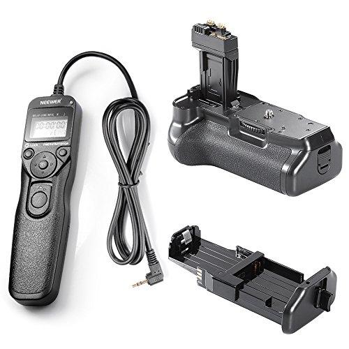 Neewer® BG-E8battery grip + LCD timer telecomando per scatto a distanza per Canon EOS 550D 600D 650D 700D/Rebel T2i T3i T4i T5i SLR