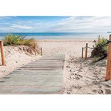 Fototapete Strand Meer Nordsee Ostsee Beach Urlaub Blau Palmen liwwing no 165