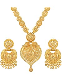 Asmitta Traditional Festival Wear 1 Gram Gold Plated Opera Style Necklace Set for Women