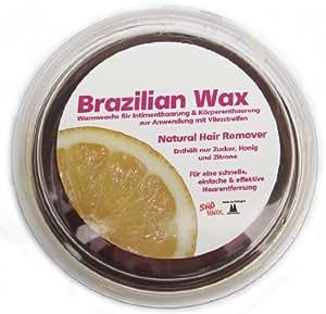 400g dolce Wax Brazilian Wax per depilazione con tessuto non tessuto 100% Naturale. Cera calda, di zucchero, miele e limone. Brasile Sugaring pasta di zucchero + 20strisce in tessuto non tessuto